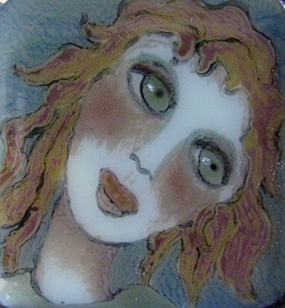 Art: Girl with Auburn Hair by Artist Dianne McGhee
