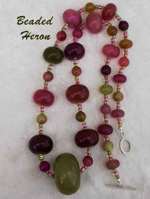 Art: Watermelon Jade Necklace by Artist Stephanie M. Daigle