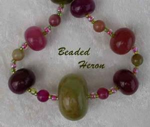 Detail Image for art Watermelon Jade Necklace