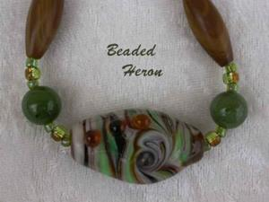 Detail Image for art Wood Jasper Camouflage Necklace