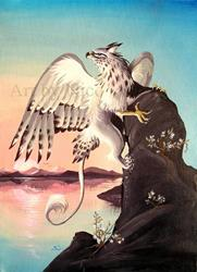 Art: White Gryphon by Artist Nico Niemi
