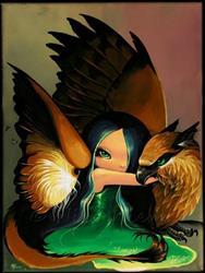 Art: Feathery Wings by Artist Nico Niemi