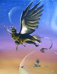 Art: Gryphon in Flight by Artist Nico Niemi