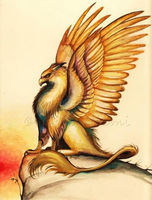 Griffin sunset by nico niemi from griffons - A picture of a griffin the creature ...
