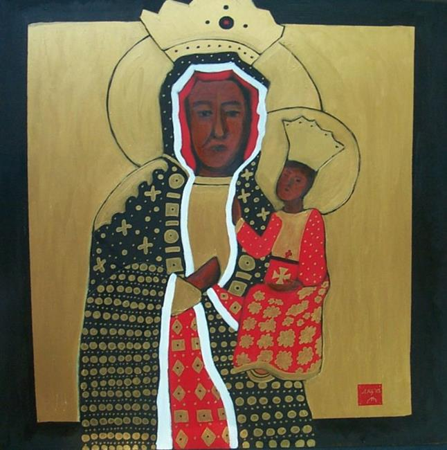 Art: Our Lady of  Czestochowa by Artist Amie R Gillingham