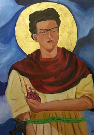 Art: patron saint of bleeding hearts & artists by Artist Amie R Gillingham