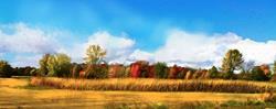 Art: Autumn's Field by Artist Alma Lee