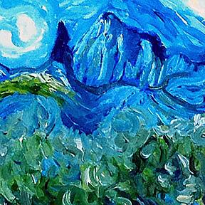 Detail Image for art Olive Grove Where Vincent Walked
