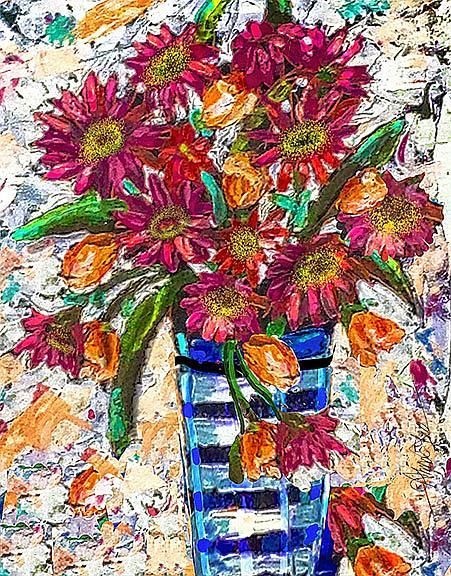 Art: Gerbera Glory by Artist Alma Lee