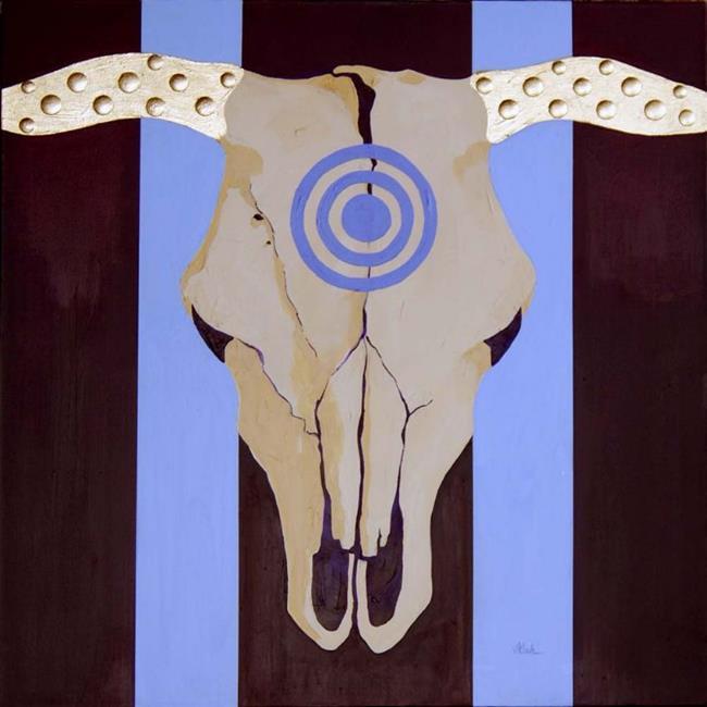 Art: Bulls Eye - Private Collection by Artist victoria kloch