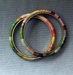 Art: small jeweltonw bangles by Artist Lauren Cole Abrams