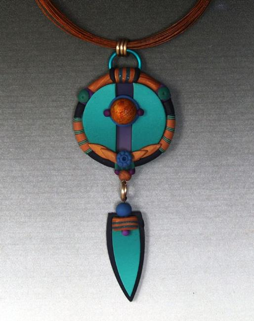 Art: Split Layered Pendant by Artist Lauren Cole Abrams