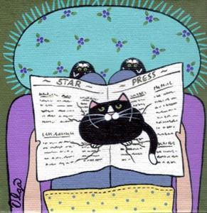 Detail Image for art newspaper cat charm bracelet