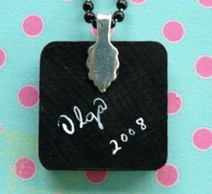 Detail Image for art inner tube cat art pendant