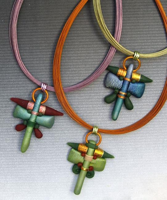 Art: new polymer pendants by Artist Lauren Cole Abrams