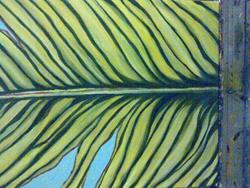 Art: banana leave I by Artist zeuxis ~ LA Hollins ~z