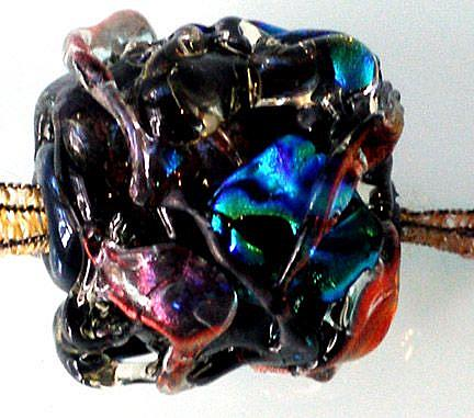 Art: Dedication to Picasso lampwork glass ART Bead by Artist Deborah Sprague