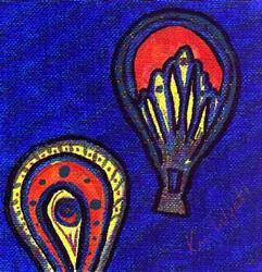 Art: 2 Balloons by Artist Kim Wyatt