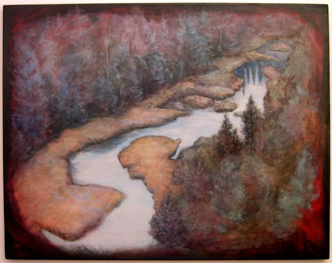 Art: The River by Artist Virginia Ann Zuelsdorf