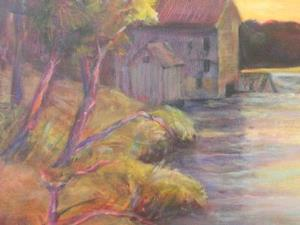 Detail Image for art The Old Mill on the River (sold)