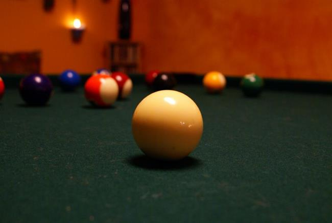 Art: Cue Ball by Artist Lisa Miller