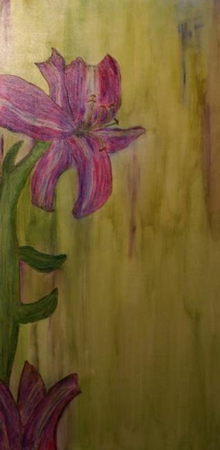 Art: Wedding Lily by Artist Lisa Miller