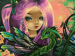 Detail Image for art Dragonfly Mermaid