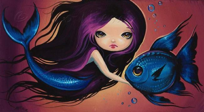 Art: Little Blue by Artist Nico Niemi