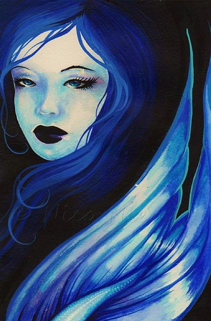 Art: Mysterious Blue by Artist Nico Niemi