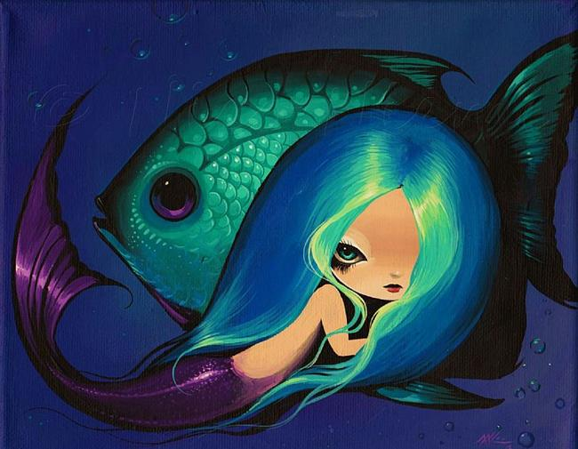 Art: My Violet-Eyed Fish by Artist Nico Niemi