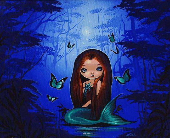 Art: Secret Twilight Pool by Artist Nico Niemi