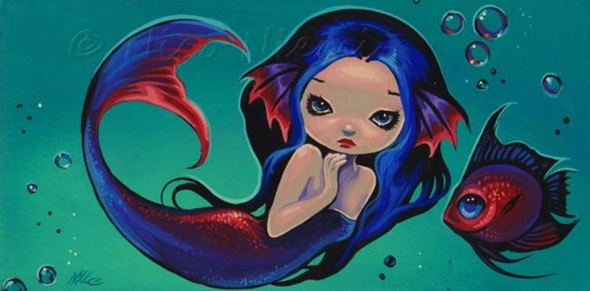 Art: Little Fish and Mermaid by Artist Nico Niemi