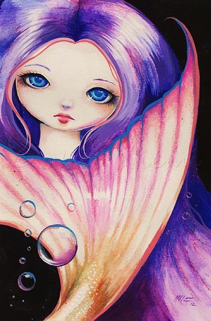 Art: Bright Eyed Mermaid by Artist Nico Niemi