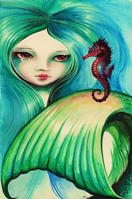 Art: Mermaid and Seahorse by Artist Nico Niemi
