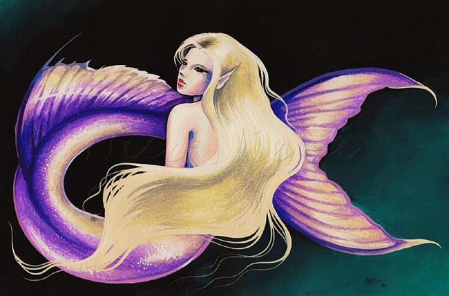 Art: Purple Maid by Artist Nico Niemi