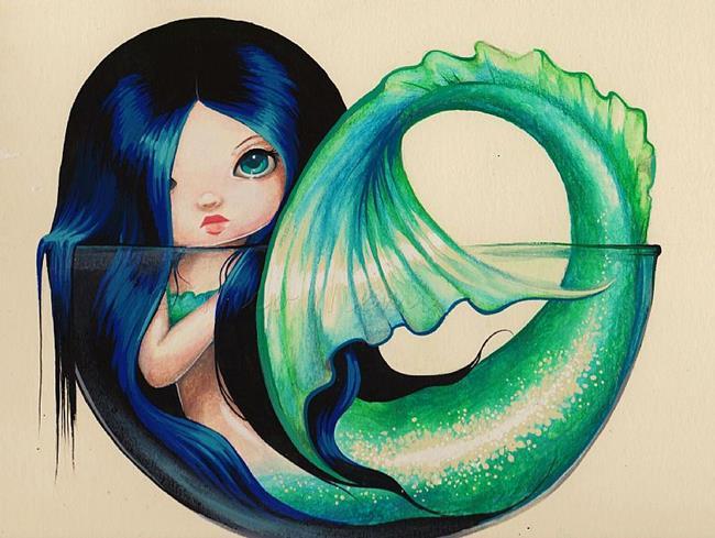 Art: Little Dish Mermaid by Artist Nico Niemi
