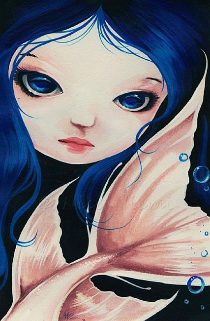 Art: Pale Tail Blue Eyes by Artist Nico Niemi