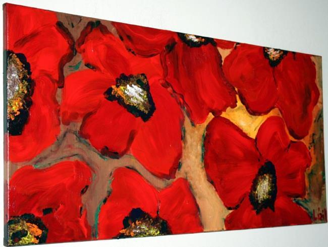 Art: RED POPPIES by Artist LUIZA VIZOLI