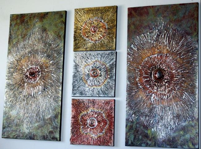 Art: EARTH'S FLOWERS by Artist LUIZA VIZOLI