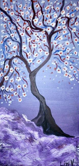 Art: MAGIC PURPLE SUNSET by Artist LUIZA VIZOLI