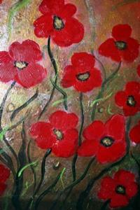 Detail Image for art RED POPPIES-GOLD FIELD