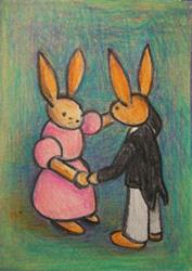 Art: Bunny Dance by Artist Marina Owens