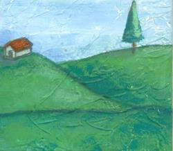 Art: Little House on the Hill by Artist Marina Owens