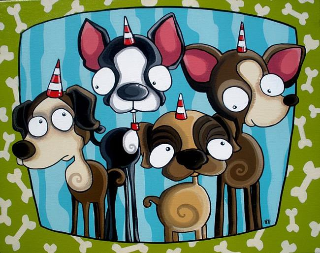 Art: It smells funny at the party by Artist Veronique Perron