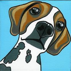 Art: The Beagle by Artist Veronique Perron