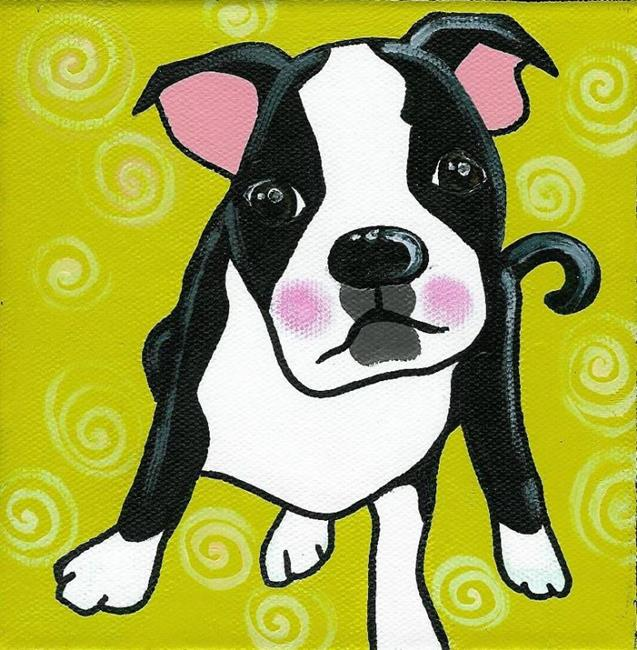 Art: The Boston Terrier by Artist Veronique Perron