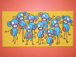 Art: Monkey Dance by Artist Veronique Perron