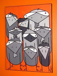Art: POULET PARTY by Artist Veronique Perron