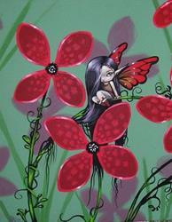Art: In the Flowers by Artist Nico Niemi