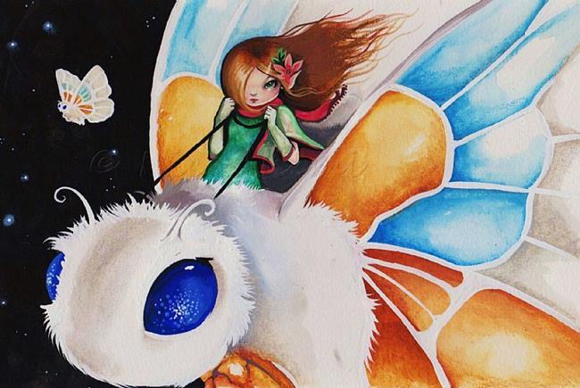 Art: Little Moth Rider by Artist Nico Niemi